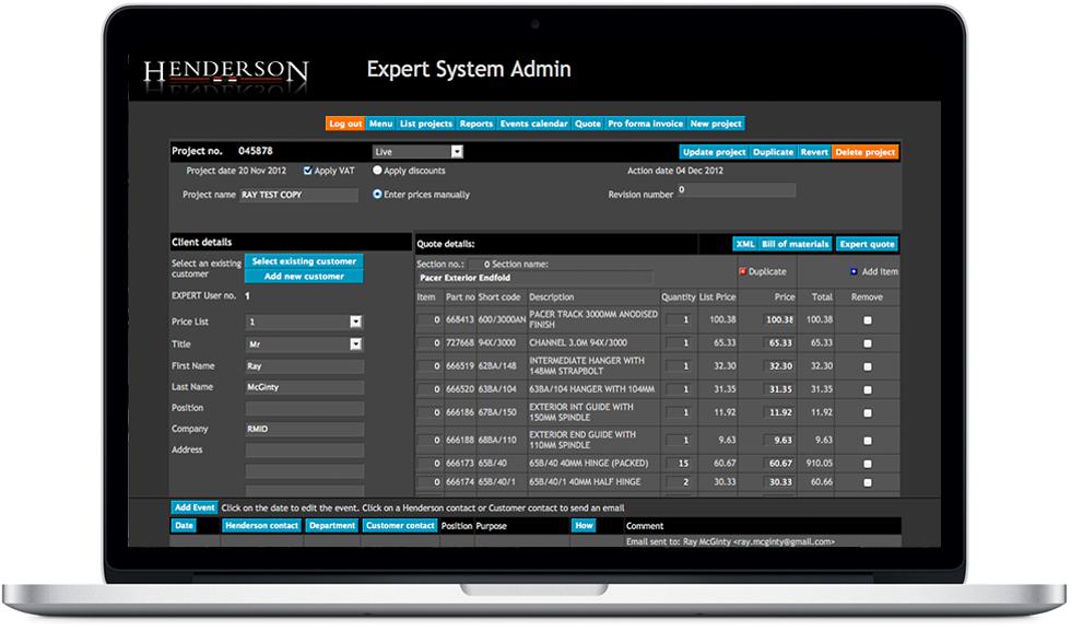 Henderson Expert System
